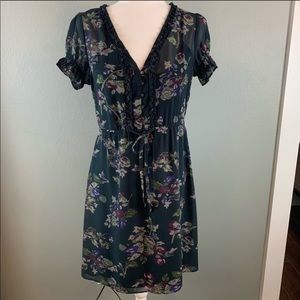 Converse Floral Dress with Puff Sleeves, Size M